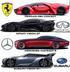 Ferrari, Infiniti, Mercedes or Subaru? Never forget to like 💞 👉 Comment everything you think 👇 ------------- @ All of the legal rights to the shot owner. Mercedes Auto, Mercedes Maybach, Ferrari F80, Carros Lamborghini, Lamborghini Cars, Subaru, Bugatti, Supercars, Futuristic Cars