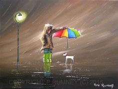 PETE-RUMNEY-FINE-ART-MODERN-ACRYLIC-OIL-PAINTING-ORIGINAL-LOOKING-AFTER-FRIENDS