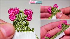 This Pin was discovered by zül Crochet Parrot, Bead Crochet, Crochet Hats, Origami Santa Claus, Modular Origami, Bird Ornaments, Needle Tatting, Crochet Borders, Crochet Edgings