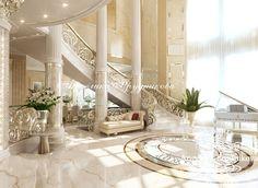 Интерьер роскошной гостиной в особняке - Дизайн коттеджей