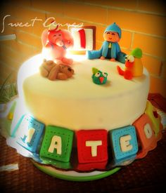 Pocoyo an excellent option for a baby boy cake.