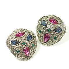 streitstones-Metall-Ohrclips platiniert mit Swarovski Lagerauflösung bis zu 50 % Rabatt streitstones http://www.amazon.de/dp/B00TU4V26S/ref=cm_sw_r_pi_dp_Wrh6ub0092SV6, streitstones, Ohrring, Ohrringe, earring, earrings, Ohrclips, earclips, bling, silver, gold, silber, Schmuck, jewelry, swarovski