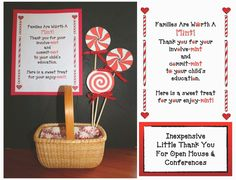 Classroom Freebies: Simple and Inexpensive Idea for Open House or Conferences