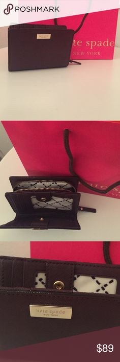 Kate Spade New York wallet Small carryall type Kate Spade wallet. Does fit in the matching purse on my page in interested! This is perfect condition and hold everything! kate spade Bags Wallets