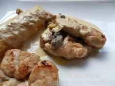 RIS DE VEAU SAUCE AUX MORILLES (ris de veau, crème, beurre, pâte feuilletée, échalotes, mini morilles séchées, vin blanc, huile, vinaigre blanc, sel/poivre blanc)