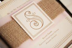 Vintage Burlap Wedding Invitations by sweetmagsdesign on Etsy, $8.00