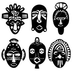 Download vector about african mask vector item 1 , vector-magz.com library of thousands of vector illustrations   Source : http://paulabyles.blogspot.com/ V