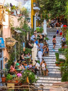 Athens, Greece - August People dining outside on the. Athens, Greece - August People dining outside on… Oh The Places You'll Go, Places To Travel, Places To Visit, Dream Vacations, Vacation Spots, Greece Travel, Greece Trip, Food In Greece, Lonely Planet