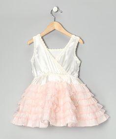 Pink & White Ruffle Dress - Girls | zulily