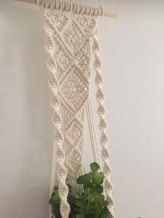 Your place to buy and sell all things handmade Macrame Wall Hanging Patterns, Macrame Art, Macrame Projects, Macrame Patterns, Wall Plant Hanger, Plant Wall, Plant Holders, Crafts To Do, Loom Knitting