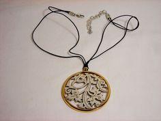 Brighton Silver and Goldtone Flower Necklace Pendant #Brighton #Pendant