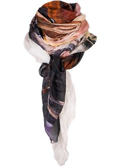 By Birdie Silketørklæde - Silk Art Scarf - Colourful Vernazza – Acorns