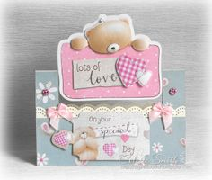 Once again today I have both a Gorjuss card and Kraft Notes card to show you, I am almost at the end of the cards for this Docrafts promoti. Forever Friends Cards, Cards For Friends, Beren, Decoration Crafts, Animal Cards, Love Cards, Baby Cards, Anniversary Cards, Special Day