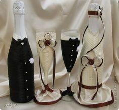 Декор предметов Свадьба Аппликация Цумами Канзаши Шитьё Свадебный набор Шоколад Бумага Бусины Ленты Ткань фото 3