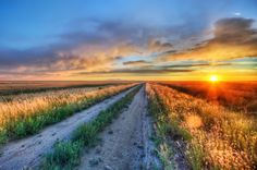 """<h2>Long Road in Montana</h2> This is the road I got stuck on after my 4-wheeler caught on fire.  Now, of course, I had all my photography equipment with me... who wouldn't take a whole host of photo equipment on a 4-wheeler joyride?  I don't know!  I mean, you gotta be ready just in case the dang thing catches on fire!  - Trey Ratcliff  Read more, including some info on how to snag a Google+ invite, <a href=""""http://www.stuckincustoms.com/2011/07/04/long-road-in-montana/"""">here</a> at the ..."""