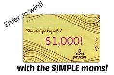 gift card giveaway image for prAna by theSIMPLEmoms, via Flickr