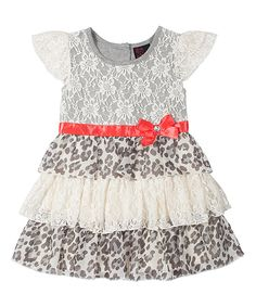 This Girls Rule Ivory Angel-Sleeve Ruffle Dress - Infant & Toddler by Girls Rule is perfect! #zulilyfinds
