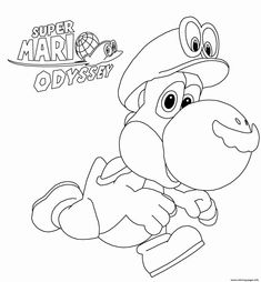 free printable super mario odyssey coloring pages funy