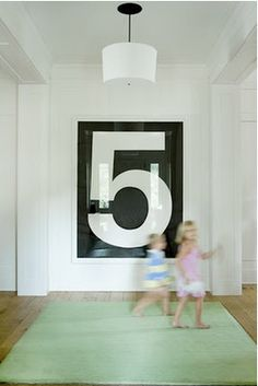 framed number 5 - in search of something to do with a blank wall? You could do any number...what's your favorite?@harrisonmchugh