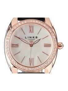 Links of London  Bloomsbury black crystal watch £325.00 #BestReviews #fashion! #ClothingSale
