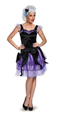 Disguise Women's Ursula Deluxe Adult Costume, Black/Purpl…