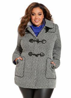 Long Hooded Raincoat   Plus Size Winter Coats   Jessica London ...