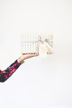 Holiday gift wrap | photo by Paige Jones | 100 Layer Cake