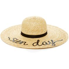 Eugenia Kim Bunny Sun Day Straw Sunhat (1,780 SAR) ❤ liked on Polyvore featuring accessories, hats, neutral, band hats, sun hat, straw sun hat, straw sunhat and straw hats