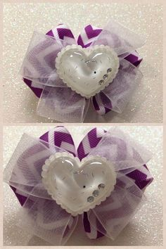 Layered Hair Bow with clip by HelloKourtneyBows on Etsy, $5.00    Please favorite my Etsy shop and like my facebook page. Hello Kourtney Bows. :)