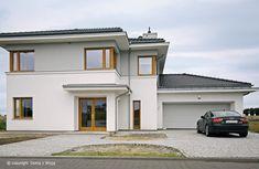 Z Klasą 1 - panorama Beautiful House Plans, Beautiful Homes, Duplex Design, House Design, Smart Home, Bungalow, My House, Architecture Design, Exterior