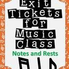 Formative assessment in music class has never been easier!  Exit tickets or exit passes are a great way to gauge student understanding -Notes and Rests version