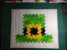 Leprechaun hat. I took a cross stitch pattern and made it into a twister quilt =)