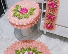 Jogo de Banheiro Floral Encantador