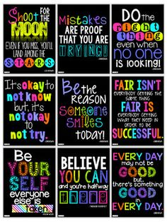 Motivational Quotes Posters for the Classroom {Neon Decor Set} realschule Motivational Posters Classroom Bulletin Boards, Classroom Setting, Classroom Posters, School Classroom, Classroom Themes, Classroom Organization, Quotes For The Classroom, Neon Classroom Decor, Kindergarten Classroom