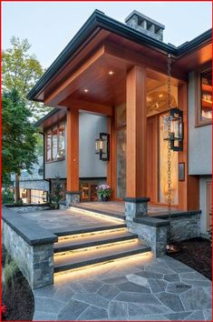 Showroom, Architecture Design, Prairie Style Houses, Prairie House, Dream House Exterior, House Exteriors, House Entrance, Modern Entrance, Staircase Design