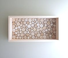 white birch forest wood grain shelf - made to order via Etsy