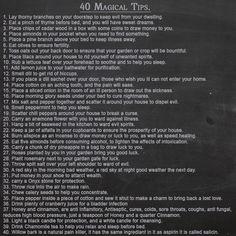 40 Magickal Tips