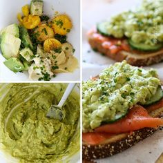 Healthy Avocado Egg Salad and Salmon Sandwich | Skinnytaste - this looks like a healthy weekend lunch