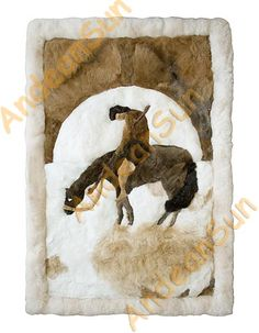 Alapaca Fur Blanket Or Rug | Alpaca Rug: END OF THE TRAIL