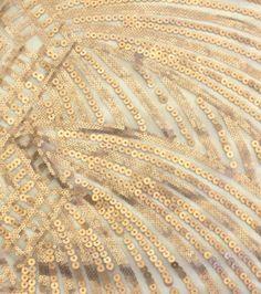 "Casa Embellish Spring Deco Sequin Fabric 49""-Nude"