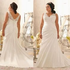 Plus Size Wedding Dresses 2016 Mermaid Style White Satin And Lace V Neck Bridal Gowns Pleats Long Train Wedding Dress For Fat Brides Unusual Wedding Dresses Wedding Dress Lace From Onlylovedress, $98.93| Dhgate.Com