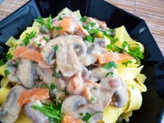 creamy smoked salmon pasta with capers and lemon