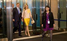 Koning Willem-Alexander en koningin Màxima  bij de Verenigde Naties in New York. Daar zal de koning een toespraak geven tijdens de opening van de Algemene Vergadering.
