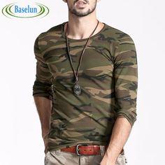 50c7b3c259b324 T Shirt 2016 New Men Printed Camouflage Autumn Fashion Man Camo Cotton  Clothing Long Sleeve