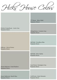 What Colors Are Calming full home color scheme - calming colors are so popular right now