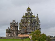Kizhi Island Medvezhyegorsky District, Russia On an island in a lake, in the middle of a Russian republic that was once part of Finland, these Eastern Orthodox churches, made from wood, are astonishing.