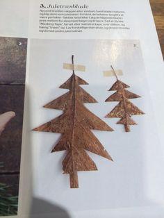 Xmas trees diy leeves Juletræer lavet af blade