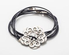 Sigal Jacoby's Bracelet Silver 925, Leather