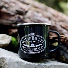 Poler enamel camp mugs in black!  #poler #polerstuff #campvibes