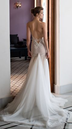 riki dalal bridal 2016 sleeveless deep sweetheart illusion straps mermaid fit flare wedding dress (1807) off white bv elegant low back